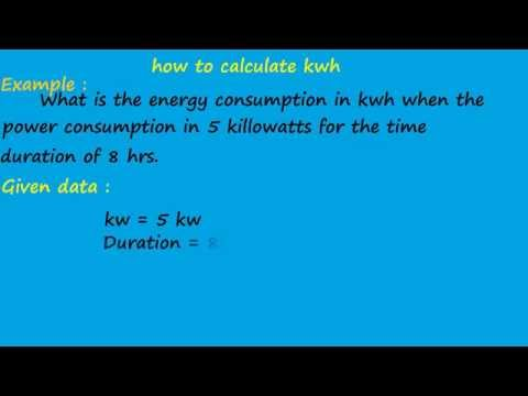 what is the different between  kw and kwh - electrical formulas