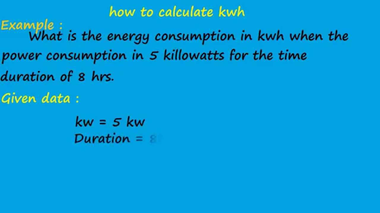 What Is The Different Between Kw And Kwh Electrical