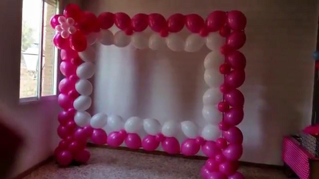 Photocall realizado con globos - YouTube
