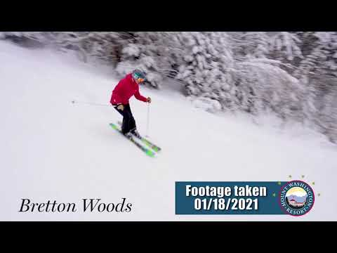 Day at The Woods - New Snow & New Terrain