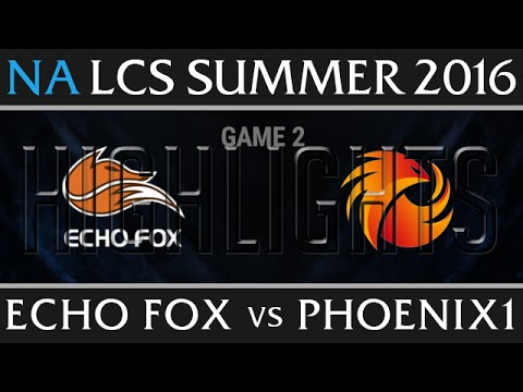 Echo Fox vs Phoenix1 Game 2 Highlights - NA LCS Week 1 Summer 2016 - FOX vs P1 G2 New Flash Game