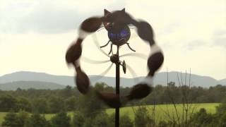 Metal Solar Cat Spinner SKU# KA6726 - Wind & Weather