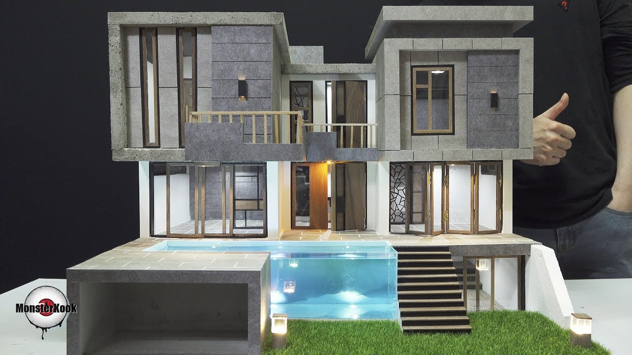 How To Make a Luxury House(model) - Compilation.