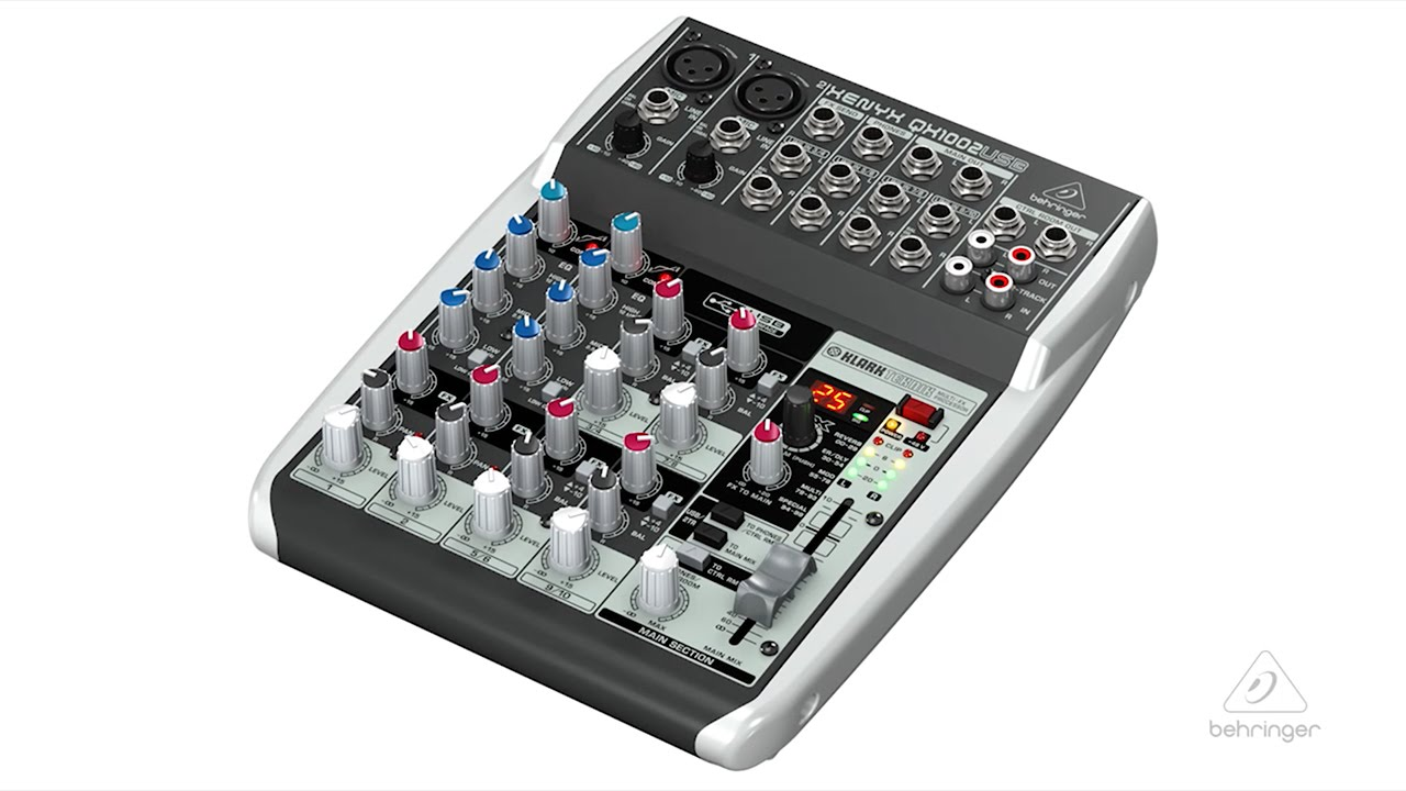xeynx qx1002usb small format mixer usb audio interface youtube. Black Bedroom Furniture Sets. Home Design Ideas