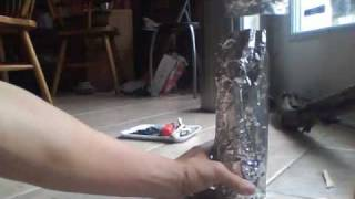 How To Make A Wood Sticks Candle Using Aluminum Foil