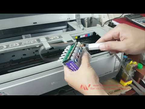 How to clean clogged blocked Epson print head nozzles   Sửa ghẹt đầu in Thông đầu in Epson 1390