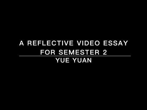 A reflective video essay for semester 2