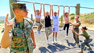 Famous Youtubers vs Military Obstacle Course!