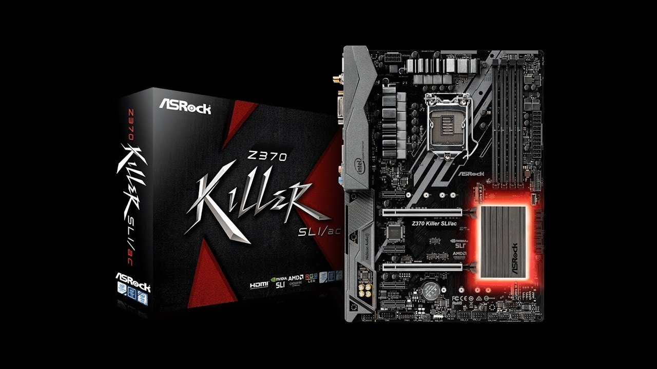 ASROCK z370 Killer SLI/AC Motherboard Unboxing - Best z370 motherboard  under $150