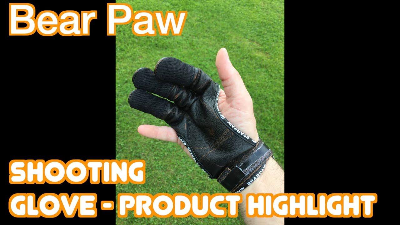 Bear Paw Black Archery Shooting Glove Small