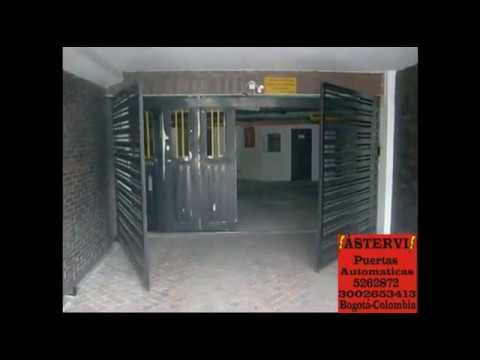 Puerta automatica abatible de dos hojas youtube - Puertas de dos hojas ...