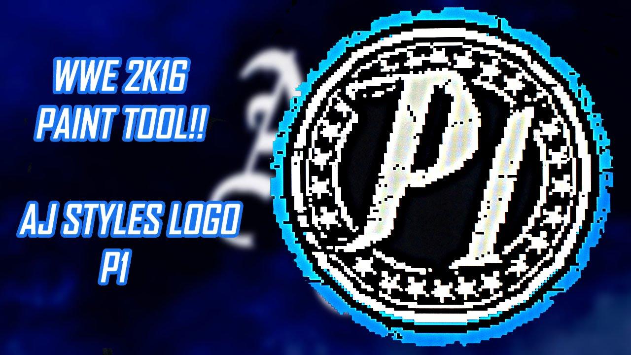 Wwe 2k16 Paint Tool Aj Styles Logo P1 By Cristian 0718 Youtube