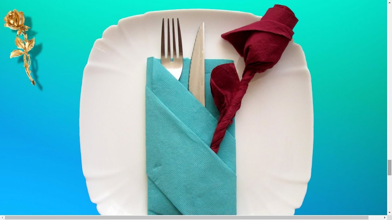 Pliage Serviette Facile Range Couverts pliage des serviettes : ? range-couvert, pochette ?