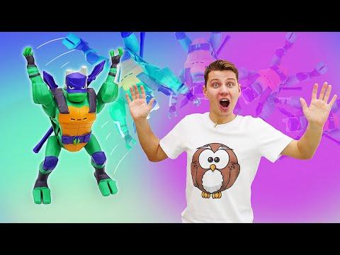 Классные игрушки супергерои - Новые черепашки ниндзя: веселые игры для мальчиков