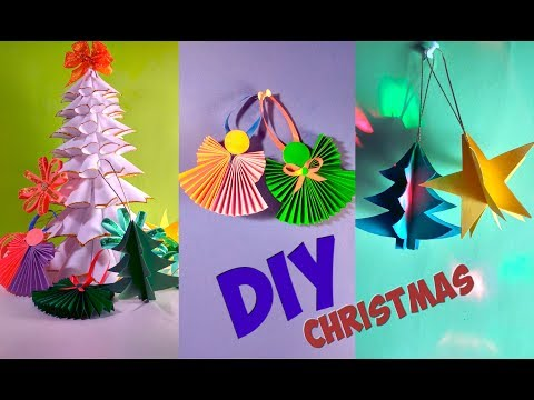 DIY Christmas Decorations Ideas From Paper! Simple Tutorial
