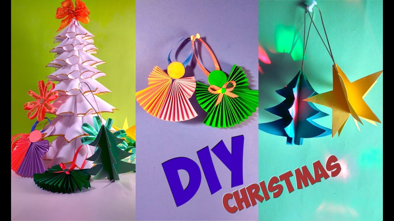 Diy Christmas Decorations Ideas From Paper Simple Tutorial Youtube