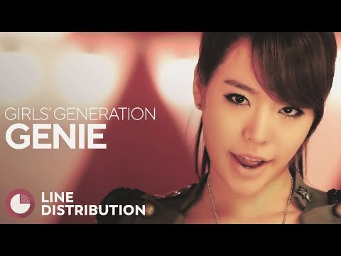 GIRLS' GENERATION - Genie (Line Distribution)
