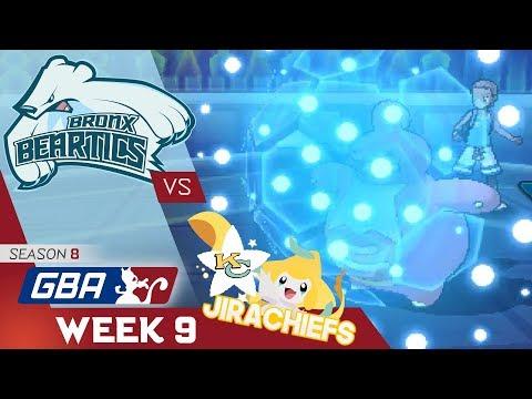 """THE REMATCH"" Bronx Beartics vs Kansas City Jirachiefs! GBA S8 W9! Ultra Sun & Moon Wifi Battle"
