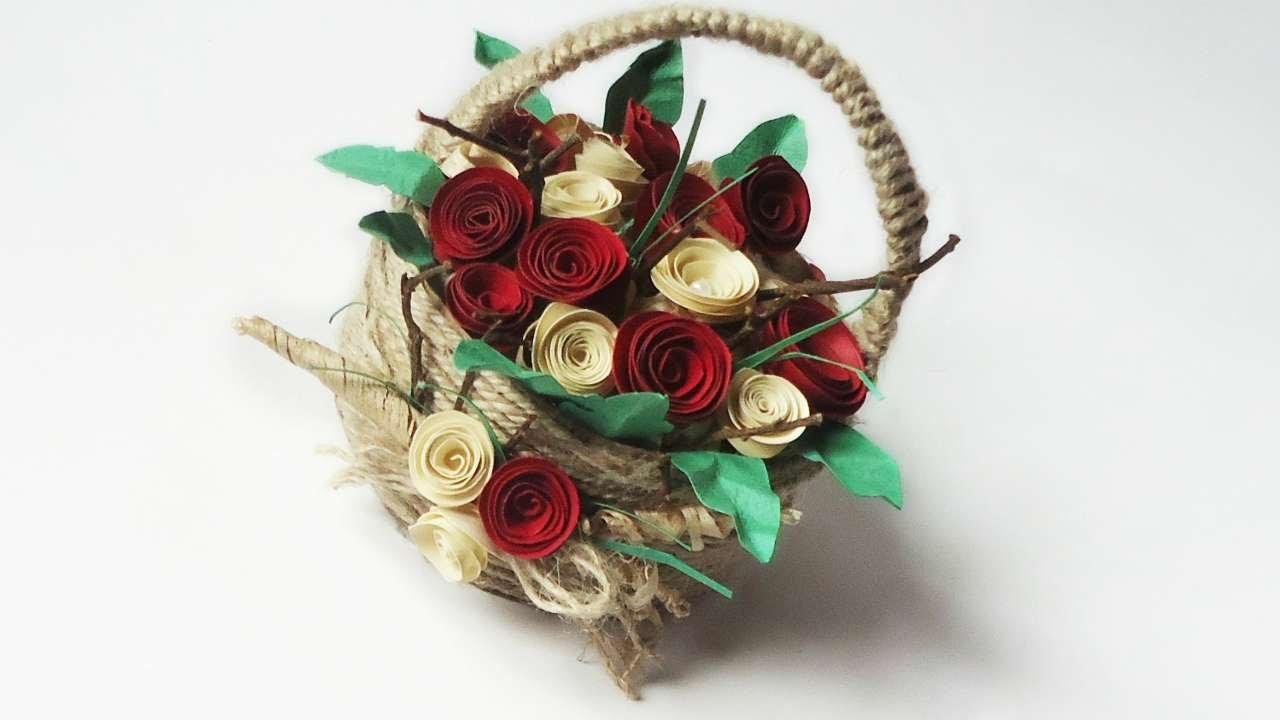 How to make an elegant flower basket diy crafts tutorial how to make an elegant flower basket diy crafts tutorial guidecentral youtube izmirmasajfo Choice Image