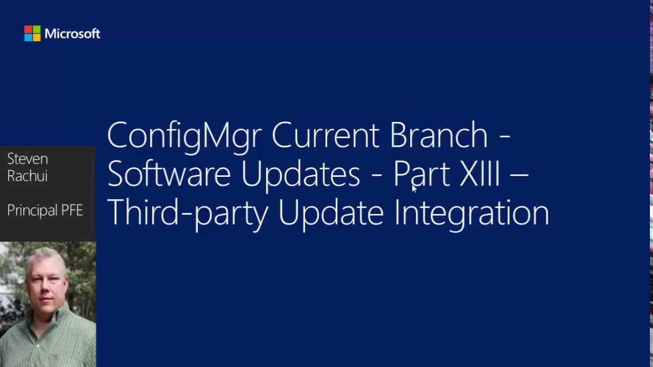 Enable third party updates - Configuration Manager