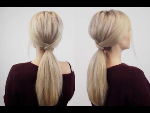 super easy hairstyle under minute