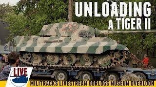 Unloading A Tiger II - Starting up that engine - Militracks Livestream.