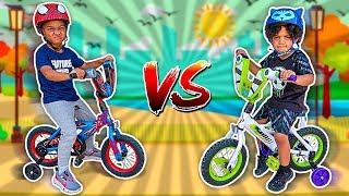 DJ & KYRIE RACED BIKES PRETEND PLAY WITH THE CLUBHOUSE KIDS
