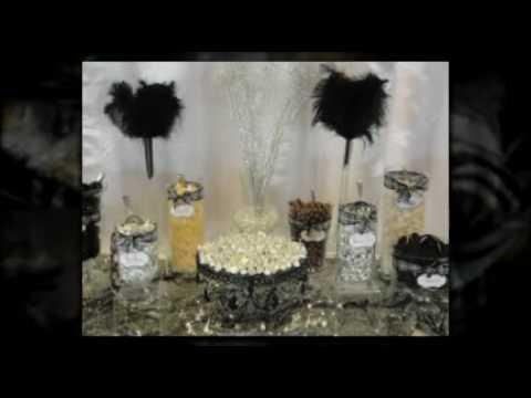 Terranea Wedding Candy Buffet Amp Dessert Bar Black White