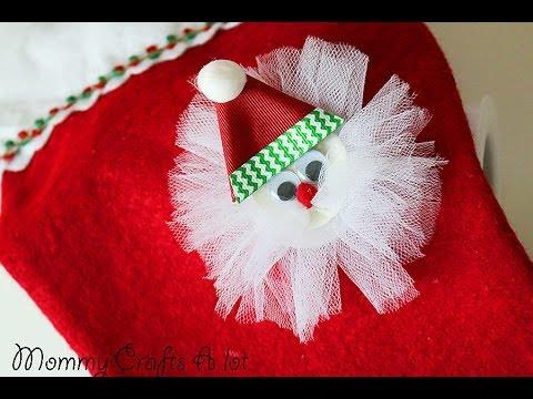 """""""simple"""" santa hair clip tutorial"""
