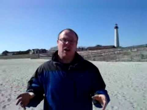 Mark Vogan on Cape May Beach, New Jersey