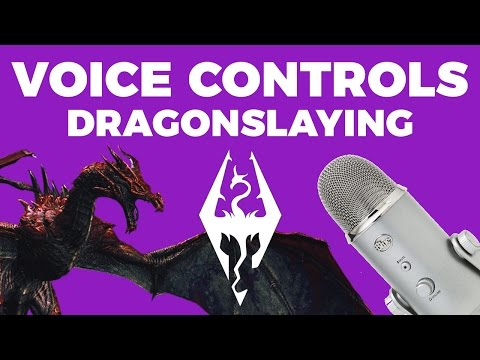 Killing Dragons with VOICE CONTROLS! | Voice Control Skyrim Highlight