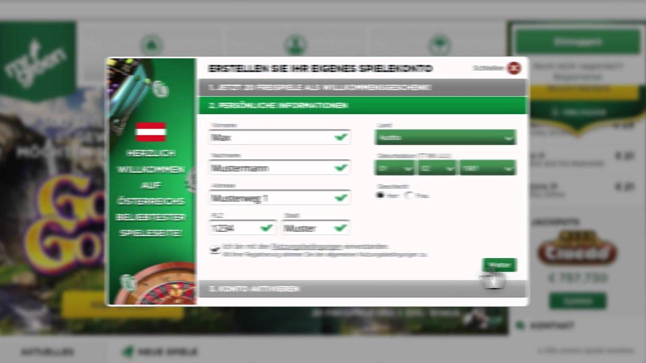 Mr Green Registrieren