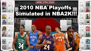 Simulating the 2010 NBA Playoffs in NBA2K18!!! #Throwback