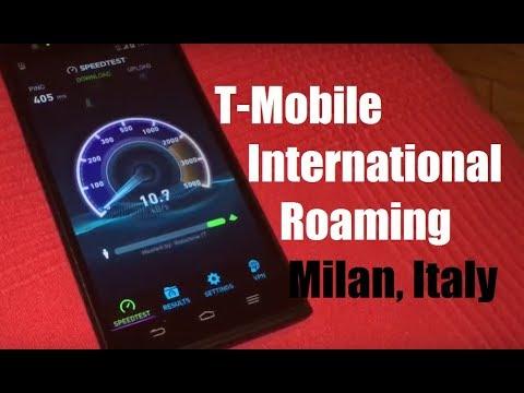 T-Mobile International Roaming In Milan, Italy! (Data, Web, Navigation)