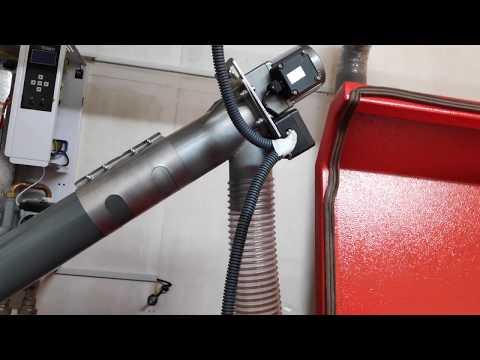 Автоматика загрузки топливного бункера. Шнек 3 метра, мембранный датчик загрузки. Пеллета семечка.