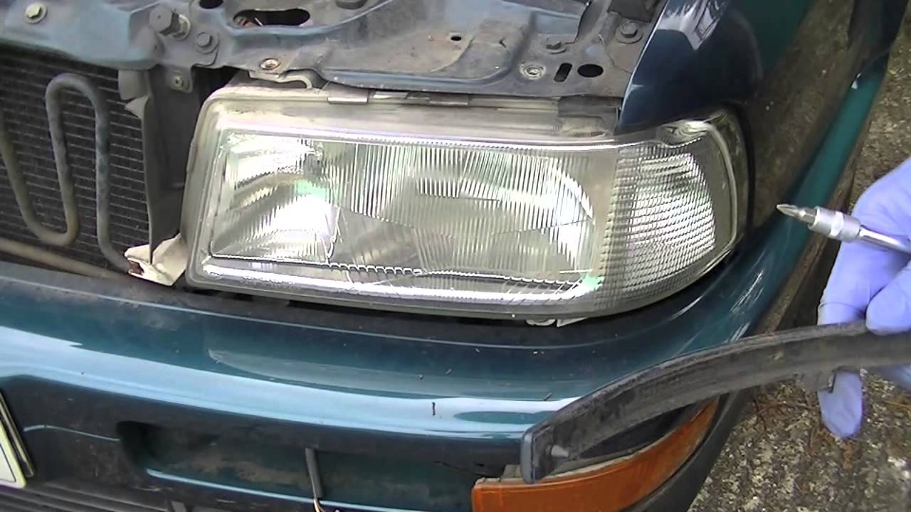 Audi 80 Coupe Cabriolet Headlight Removal Youtube