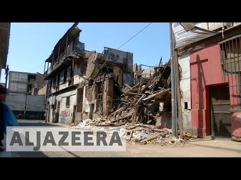 Historic centre of Peruvian capital in ruins