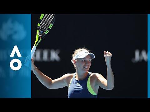 Elise Mertens v Caroline Wozniacki match highlights | Australian Open 2018