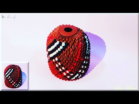 How to make 3d origami money box 15