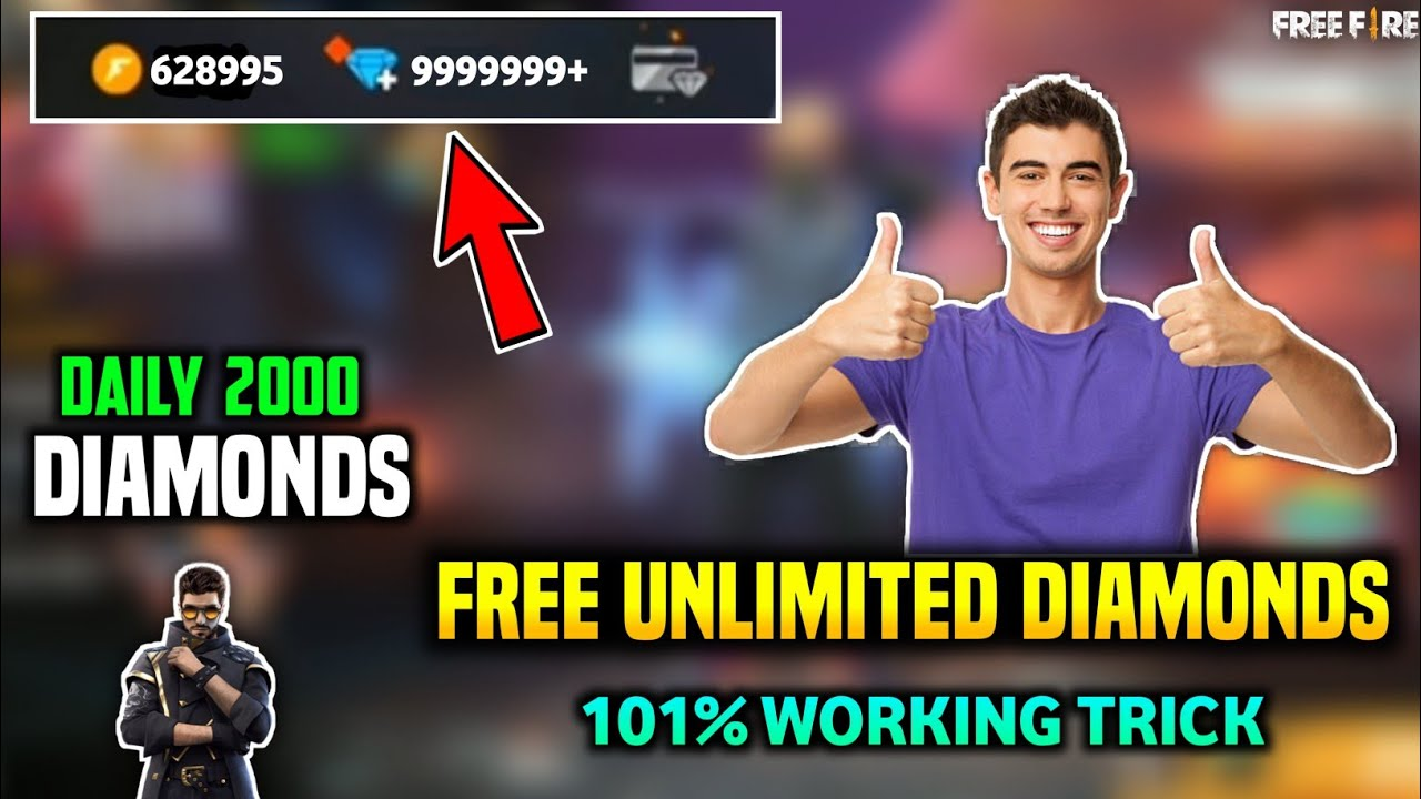 How To Get Free Unlimited Diamonds In Free Fire || Get Free Unlimited Diamonds || 101% Working Trick