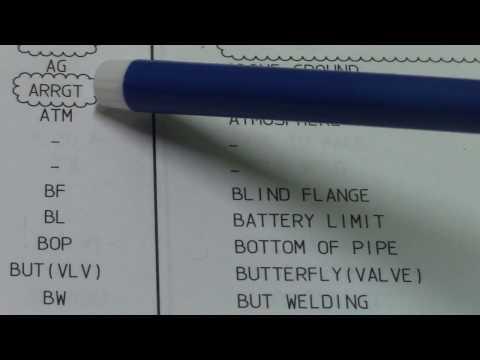 Take Note Piping Abbreviation - PipingWeldingNonDestructiveExamination-NDT