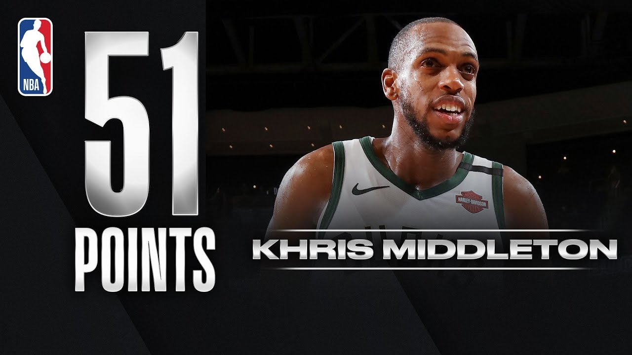 Five things to know about Khris Middleton's 51-point game Tuesday ...