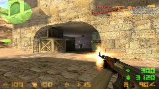1 vs 5 / -5 AK-47 & Counter-Strike 1.6