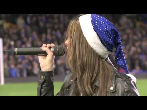 "Jennifer Jewell ""All I Want For Christmas"" Live half time performance at Goodison Park 14-12-13"