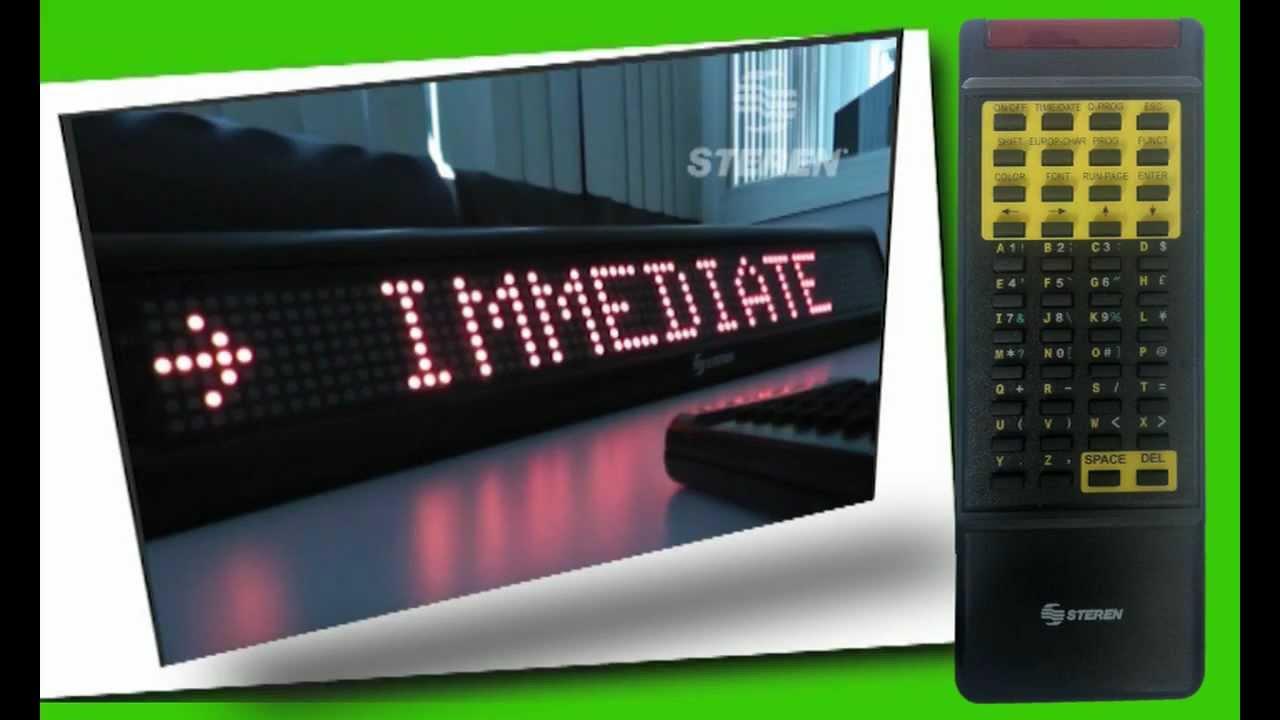 Video para la configuraci n del letrero de leds steren - Como instalar lamparas led ...