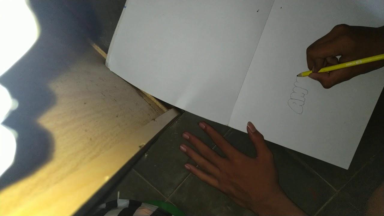 Tutorial Membuat Tulisan Ambyar Grafiti Youtube