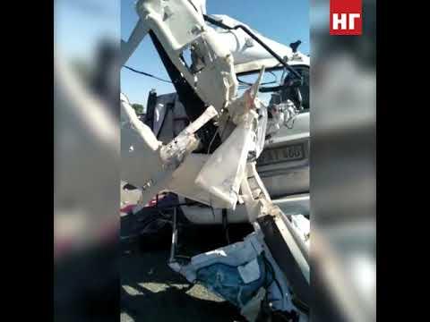 Страшная авария на трасе в Костанайской области