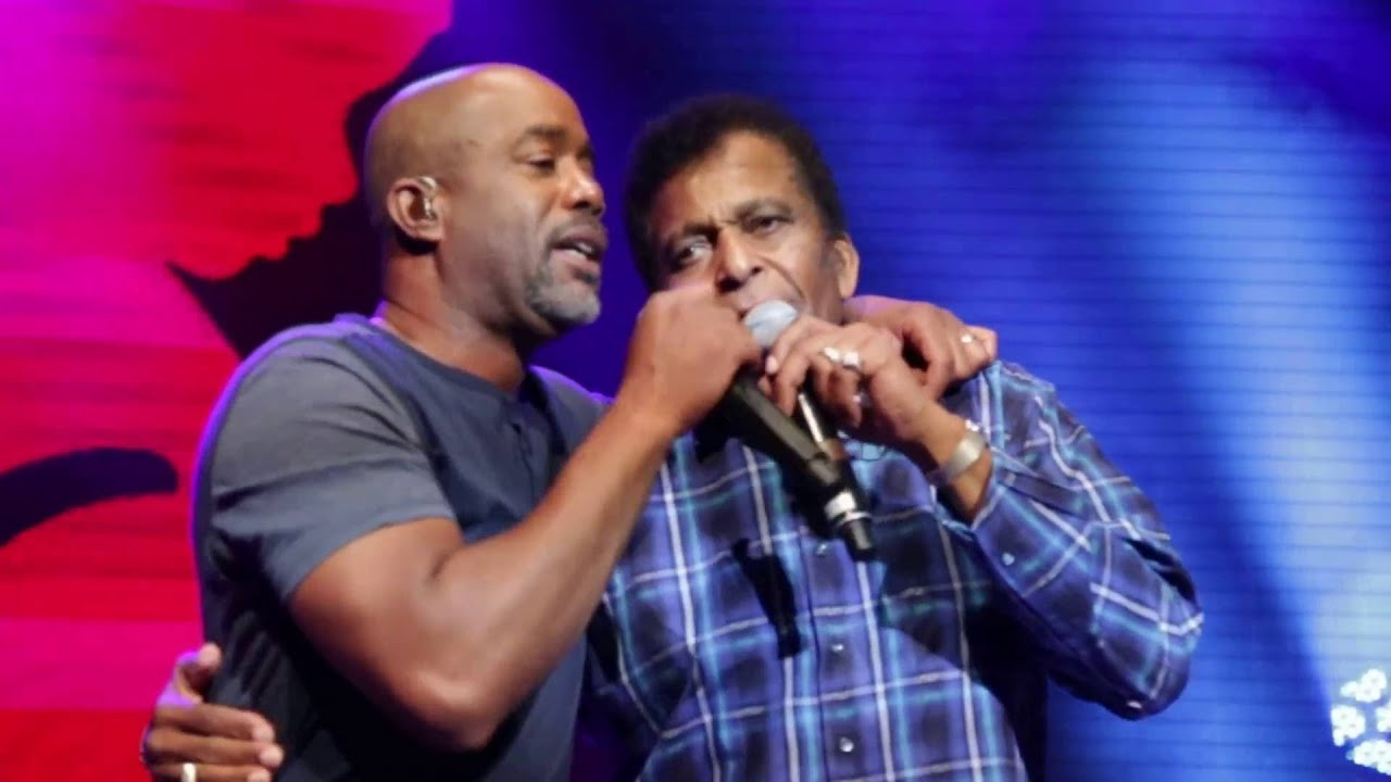 Darius Rucker and Charley Pride Kiss An Angel Goodmorning June 6, 2016 Nashville