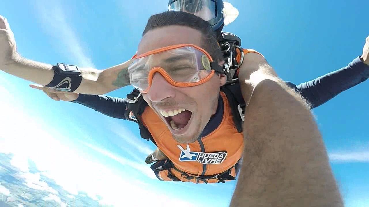 Salto de Paraquedas do Eduardo B na Queda Livre Paraquedismo 15 01 2017