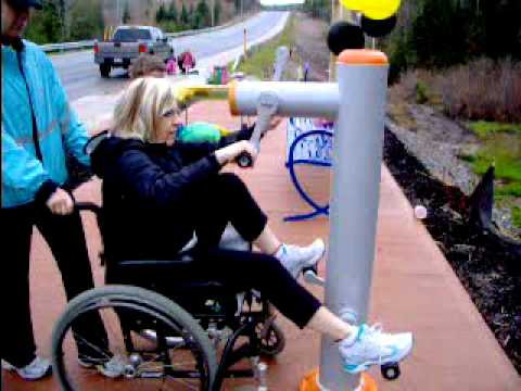 Wheelchair Bike Outdoor Exercise Equipment At Hamm Family Site